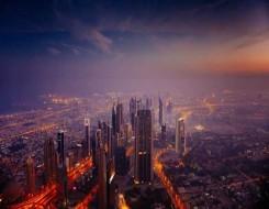 صوت الإمارات - برج خليفة في دبي يتزيّن باللون الأخضر احتفاء باليوم الوطني السعودي