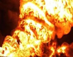 صوت الإمارات - الدفاع المدني في دبي يتعامل مع حريق هائل في مخلفات زيوت بمنطقة صناعية