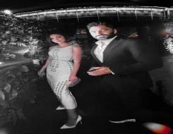 صوت الإمارات - بسمة بوسيل تتألق بإطلالة كلاسيكية برفقة زوجها تامر حسني